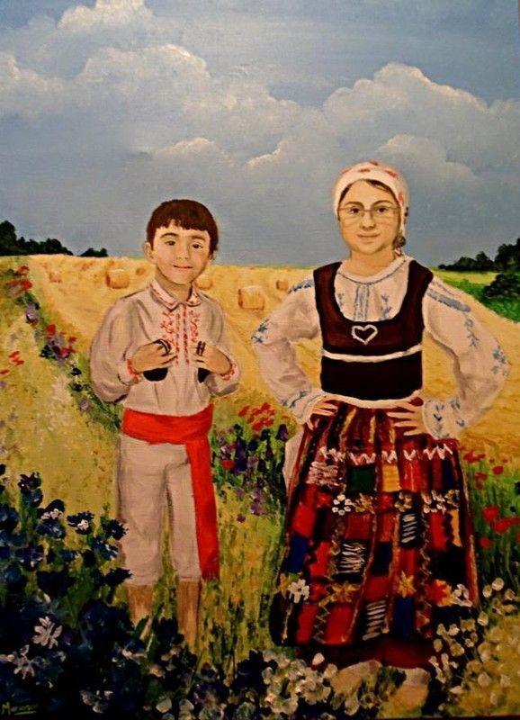 Extrêmement 7 enfants en costume folklorique portugais NX88