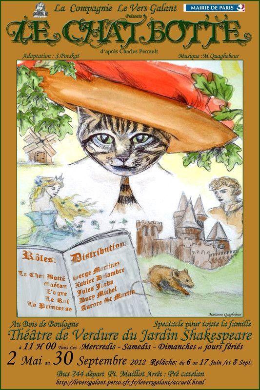 Le projet chat botte - Theatre de verdure du jardin shakespeare ...