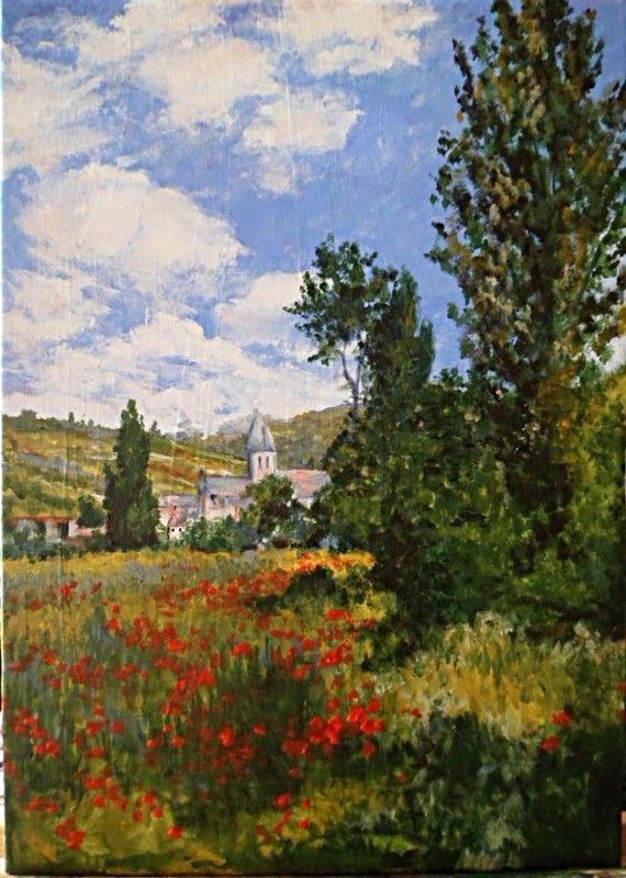 Sentier dans les coquelicots ( Monet )